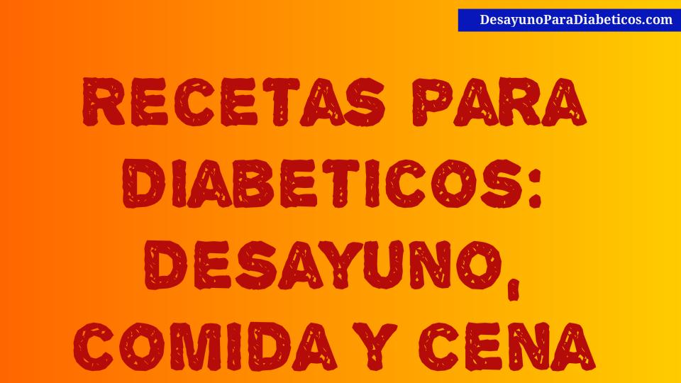 menus de desayuno para diabeticos