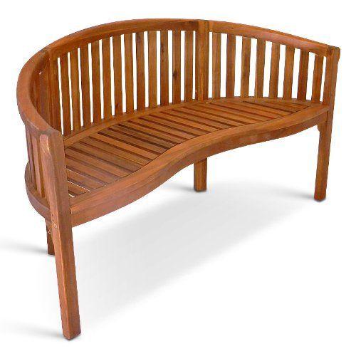 Sam Bananen Garten Bank 124cm Braun Akazienholz Fsc 100 Zertifiziert 2 Sitzer Gartenmobel Massiv Fur Terrasse Balkon Gartenbanke Gartenmobel Mobel Braun
