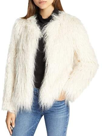 51ca4420109c Sanctuary Cropped Faux-Fur Jacket