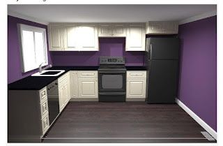 Purple kitchen paint color for downstairs kitchen for Purple paint in kitchen