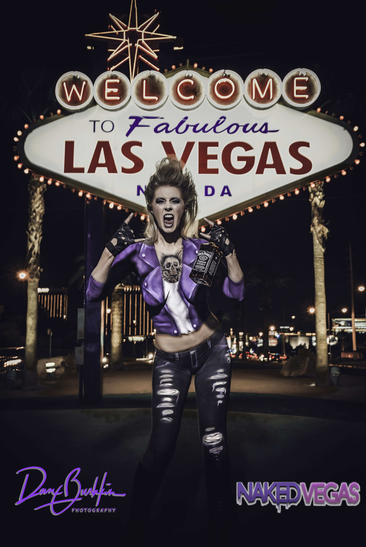 Velkommen til Las Vegas-tegn Las Vegas Kelly Belmonte Naked-7123