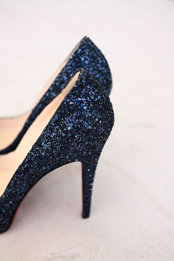 Navy Sparkly Footwear Http Www Creativeideasblog Wedding Blue Glitterglitter Shoessparkle