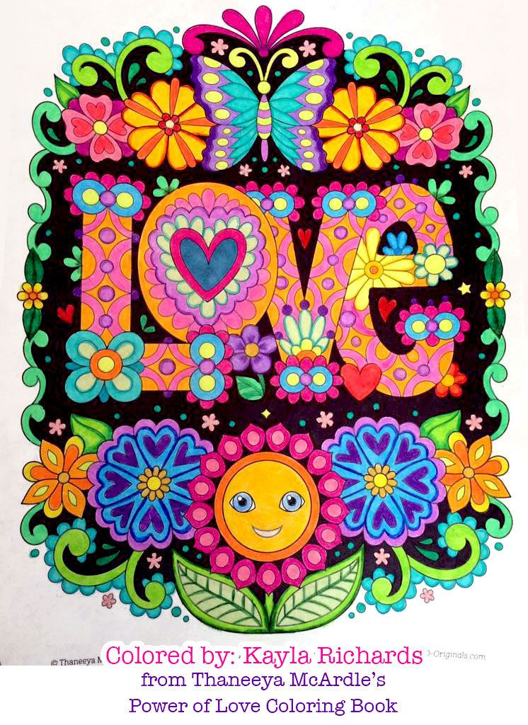 Love Coloring Page From Thaneeya Mcardle S Power Of Love Coloring Book Coloring Book Art Hippie Art Coloring Books