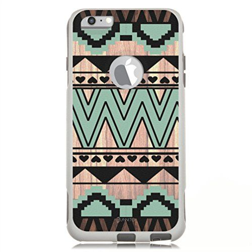 """Unnito iPhone 6 PLUS / iPhone 6s PLUS Hybrid Case (5.5"""" Screen), [Dual Layer] Case Protective [Custom] Commuter Protection Cover (White - Native Aztec Wood) Unnito http://www.amazon.com/dp/B00W0BFYZ8/ref=cm_sw_r_pi_dp_LunCwb1TKSY0C"""