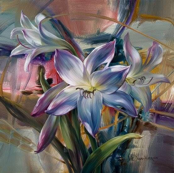 Vie Dunn-Harr художник из США | Цветочные картины, Картины ...