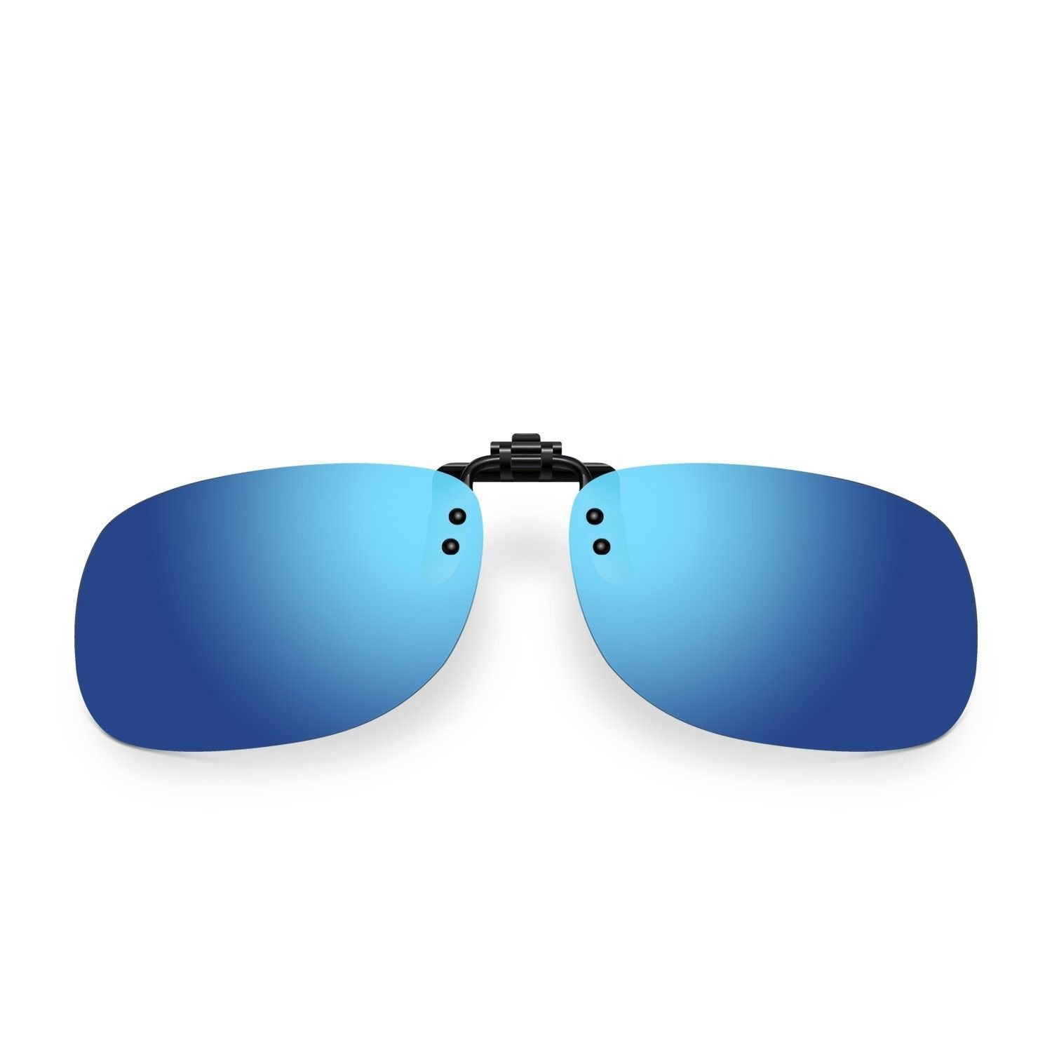6c37ba08263 Polarized Clip-on Flip up Plastic Sunglasses Lenses Glasses Outdoor Driving  Fishing Cycling - Ice Blue - CH1833QQ898-Women s Sunglasses
