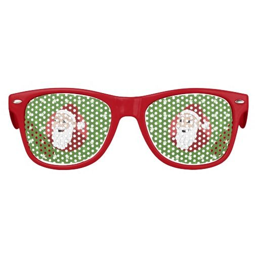 Santa Claus Cartoon Sunglasses