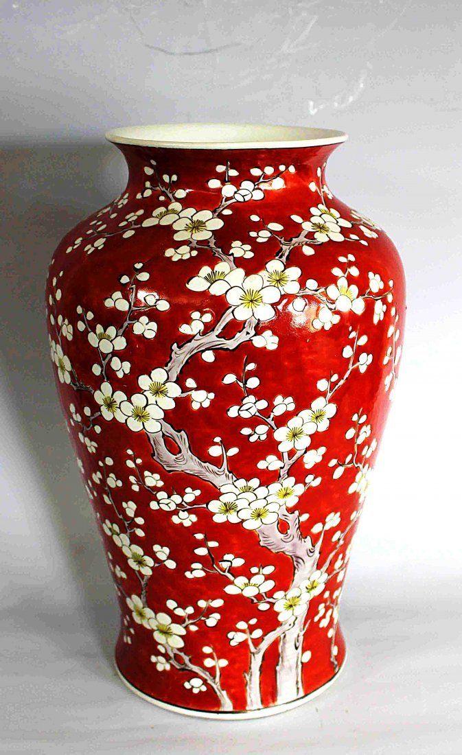 Chinese Red Glazed Porcelain Vase Republic Period Chinese Art In 2019 Vase Porcelain