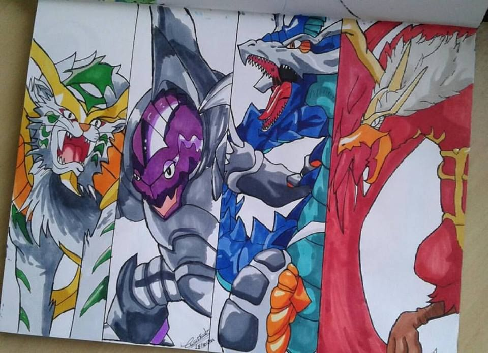 Beyblade driger draciel dragoon dranzer my drawings anime sketch beyblade characters anime - Beyblade driger wallpaper ...