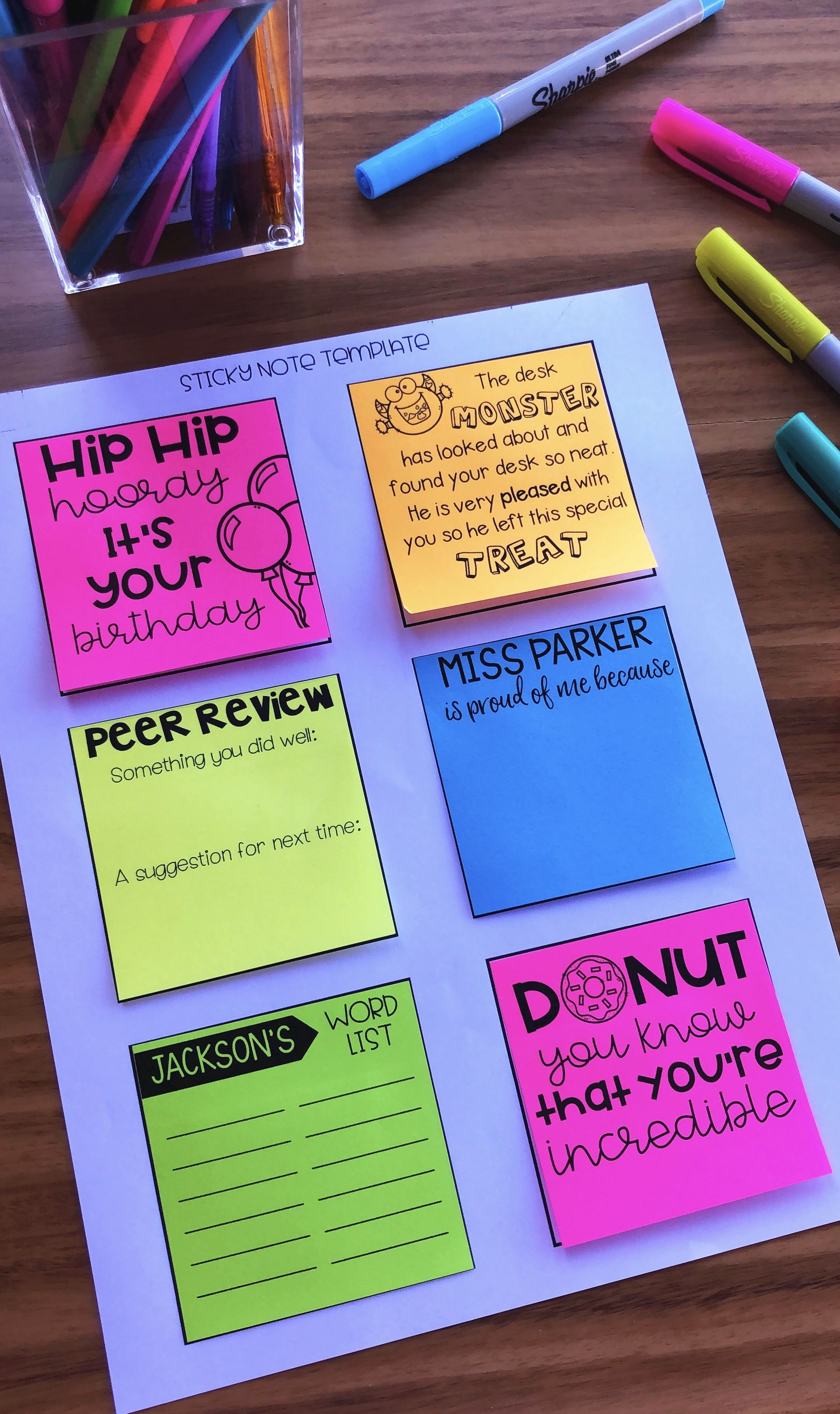 Sticky Notes For The Classroom Awesome Elementary Tpt Products