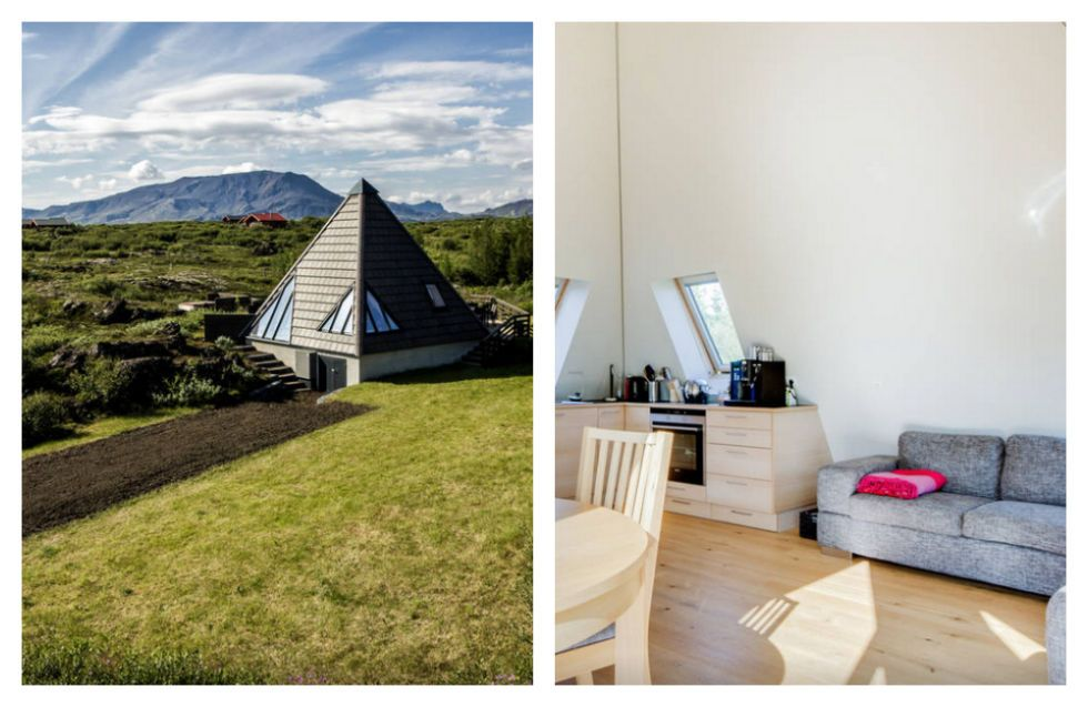 Iceland's take on the cottage combines modern, Scandinavian design with traditional touches — built in the midst of an old lava field's moss and trees. Come for the hot tub and stay to watch the Northern Lights in the skies above. From $220. See more on Airbnb »