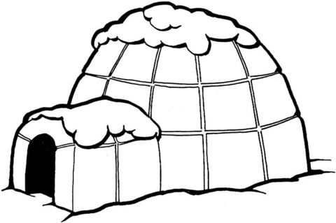 Igloo Coloring Page From Inuit Eskimo Category Select From 28148