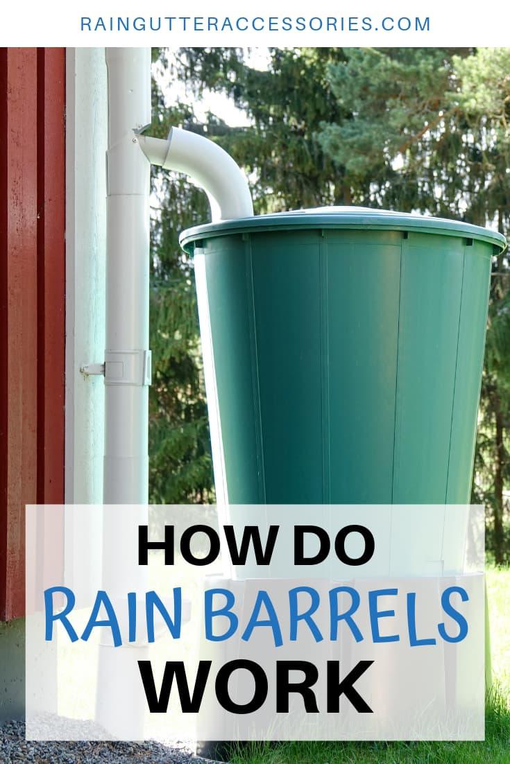How Do Rain Barrels Work In 2020 Rain Barrel Gutter Accessories Rain Gutters