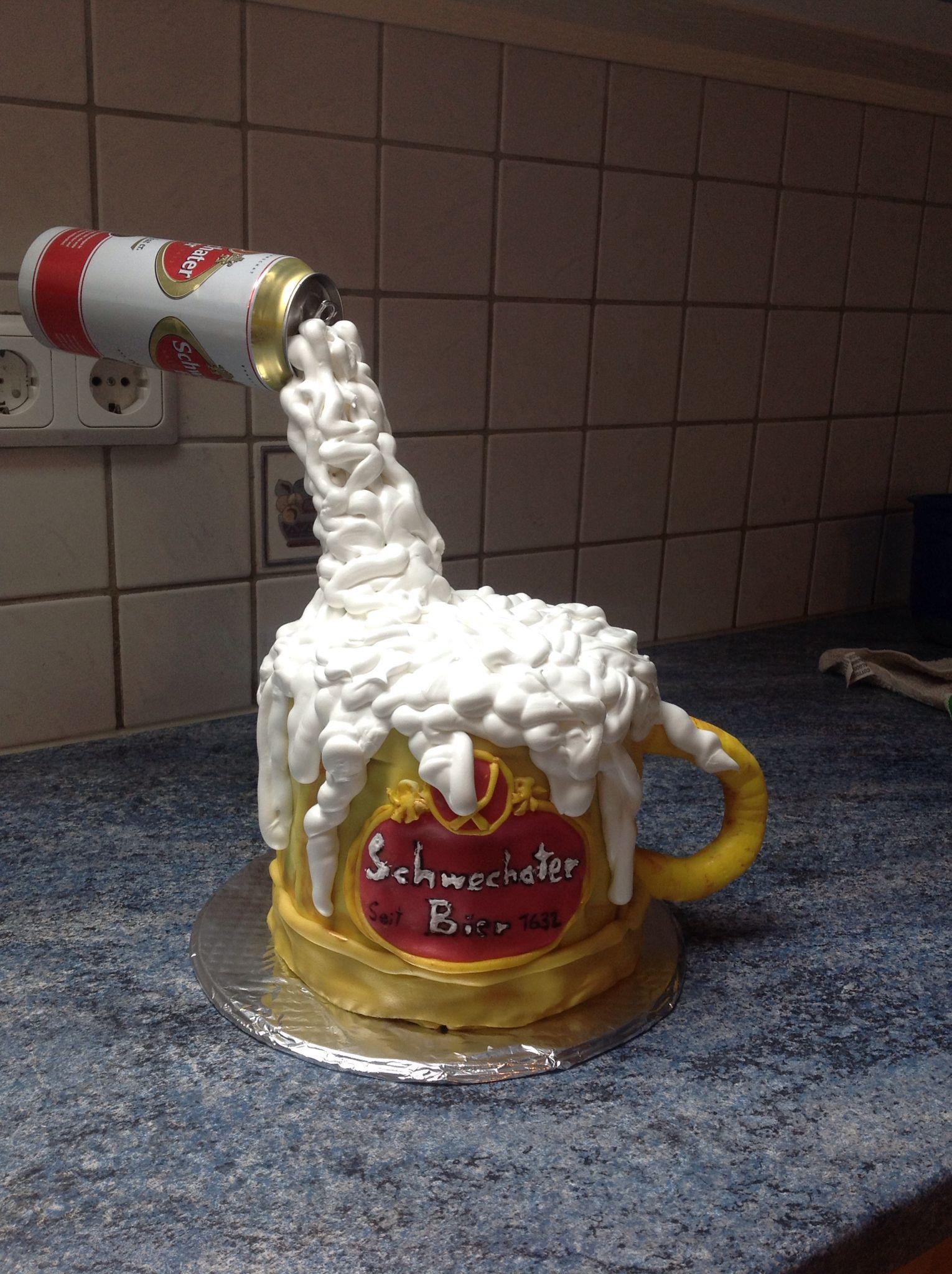 Bierkrug Torte | cake | Torta de botella, Torta fernet und ...