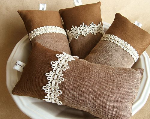 Linen and Lace Pincushion