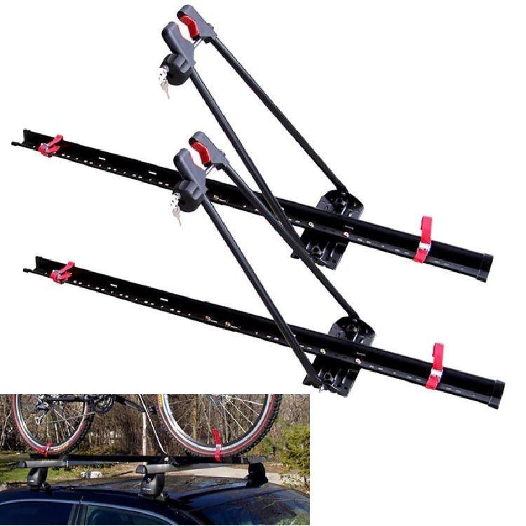 Roof Bike Rack Locking Upright 2Pack Car Top Mount Lock