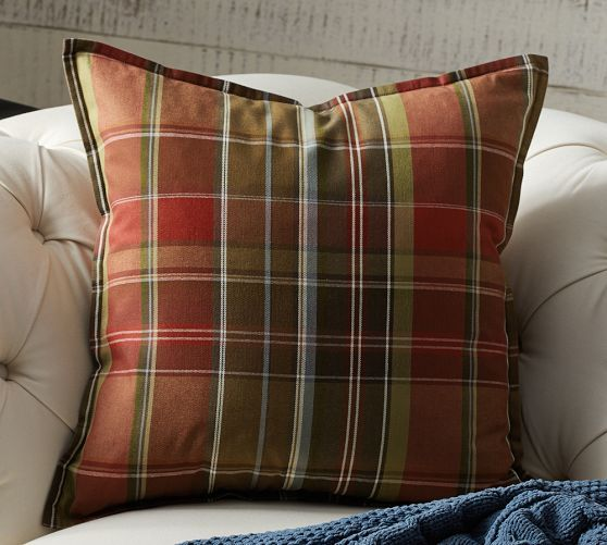 Tahoe Plaid Pillow Cover | Pottery Barn
