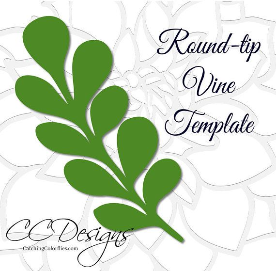 leaf vine templates printable vine template leaf vine svg cut