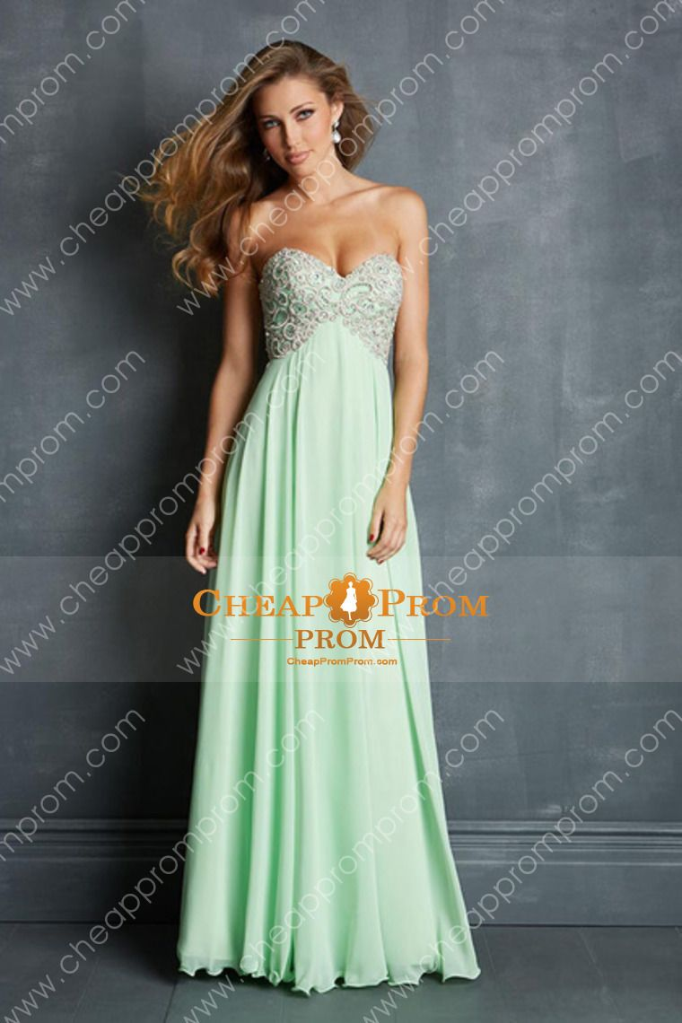 A line sweetheart chiffon vintage inspired long promdresses