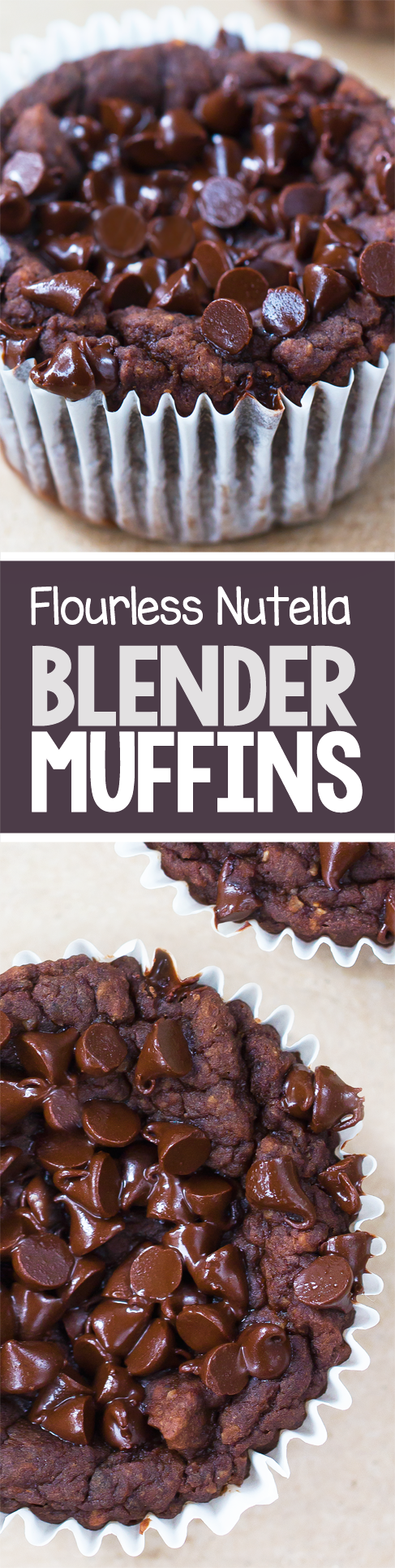 Nutella Blender Muffins - NO Flour!