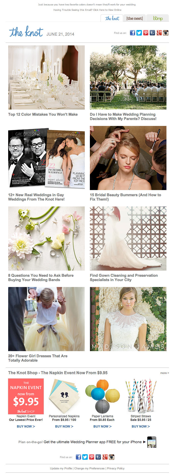 The Knot email 2014 Wedding decision, Wedding, Bridal beauty