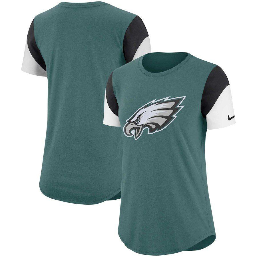 Philadelphia Eagles Nike Women s Tri-Blend Team Fan T-Shirt – Midnight  Green Black 5fc0f8465