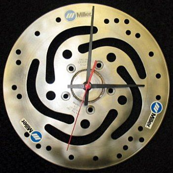 Miller - Welding Projects - Idea Gallery - Harley Brake Rotor Clock
