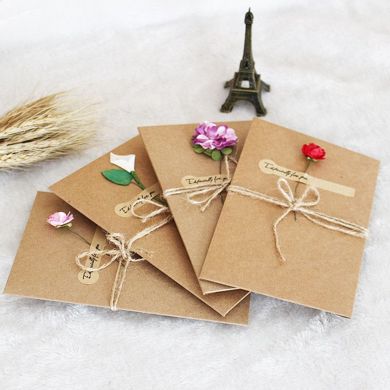 2pcs Kraft Paper Envelope With Invitation Card For Wedding Wedding - invitation card event