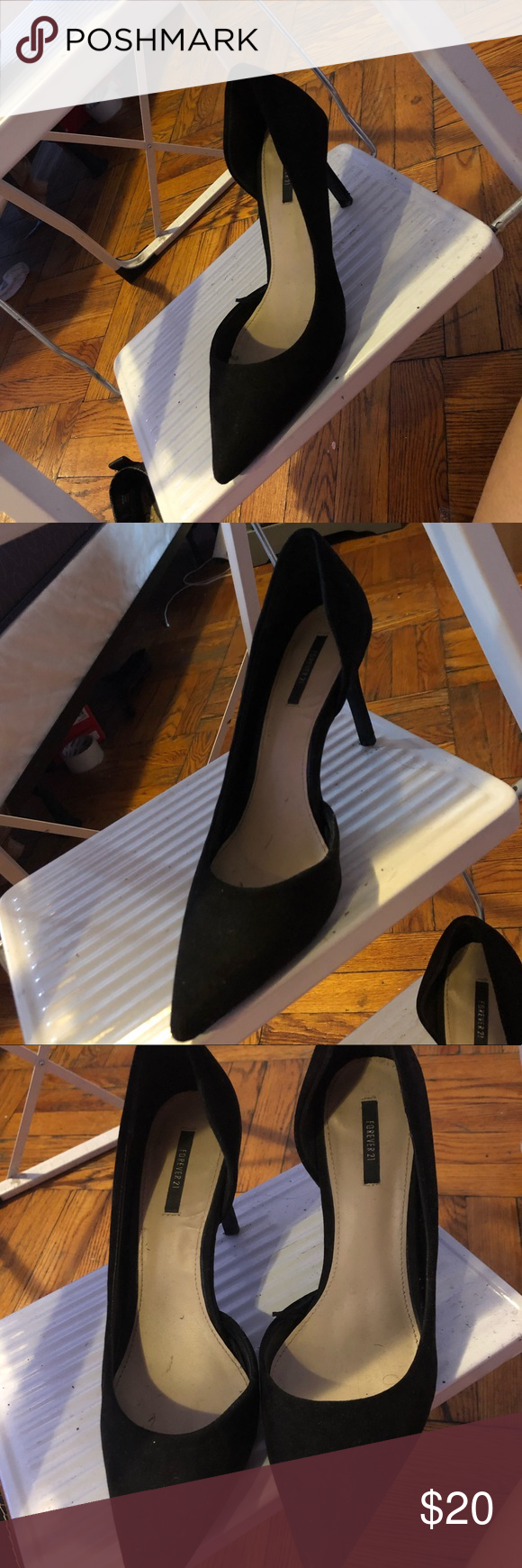 Black Forever21 Pointy Heels Pointy Heels Heels Forever 21 Shoes