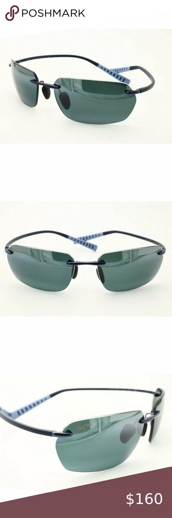 Maui Jim Alakai 7430 06 Rimless Black Sunglasses Maui Jim Maui Jim Sunglasses Black Sunglasses