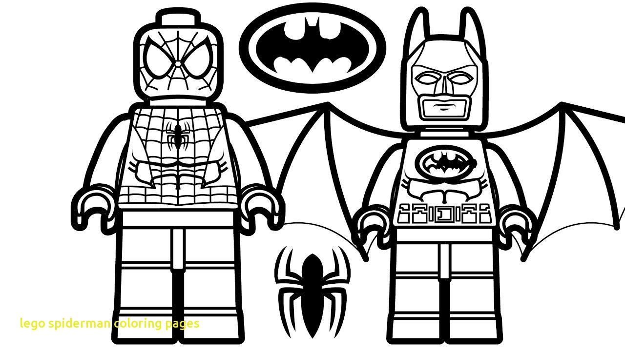 It is a picture of Nerdy Lego Spiderman Coloring Page