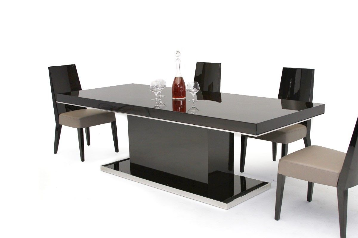 Noble Modern Ebony Lacquer Dining Table Lacquer Dining Table