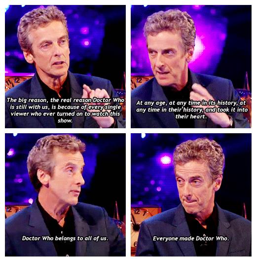 Peter Capaldi about DW and the fans. Awwww, way to go!