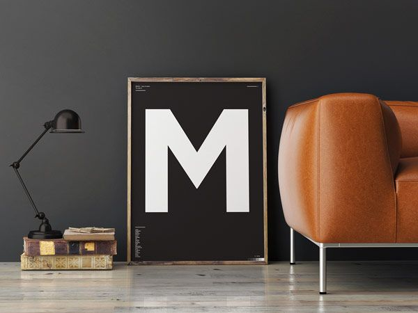 Type of letters minimalist typographic posters graphic design