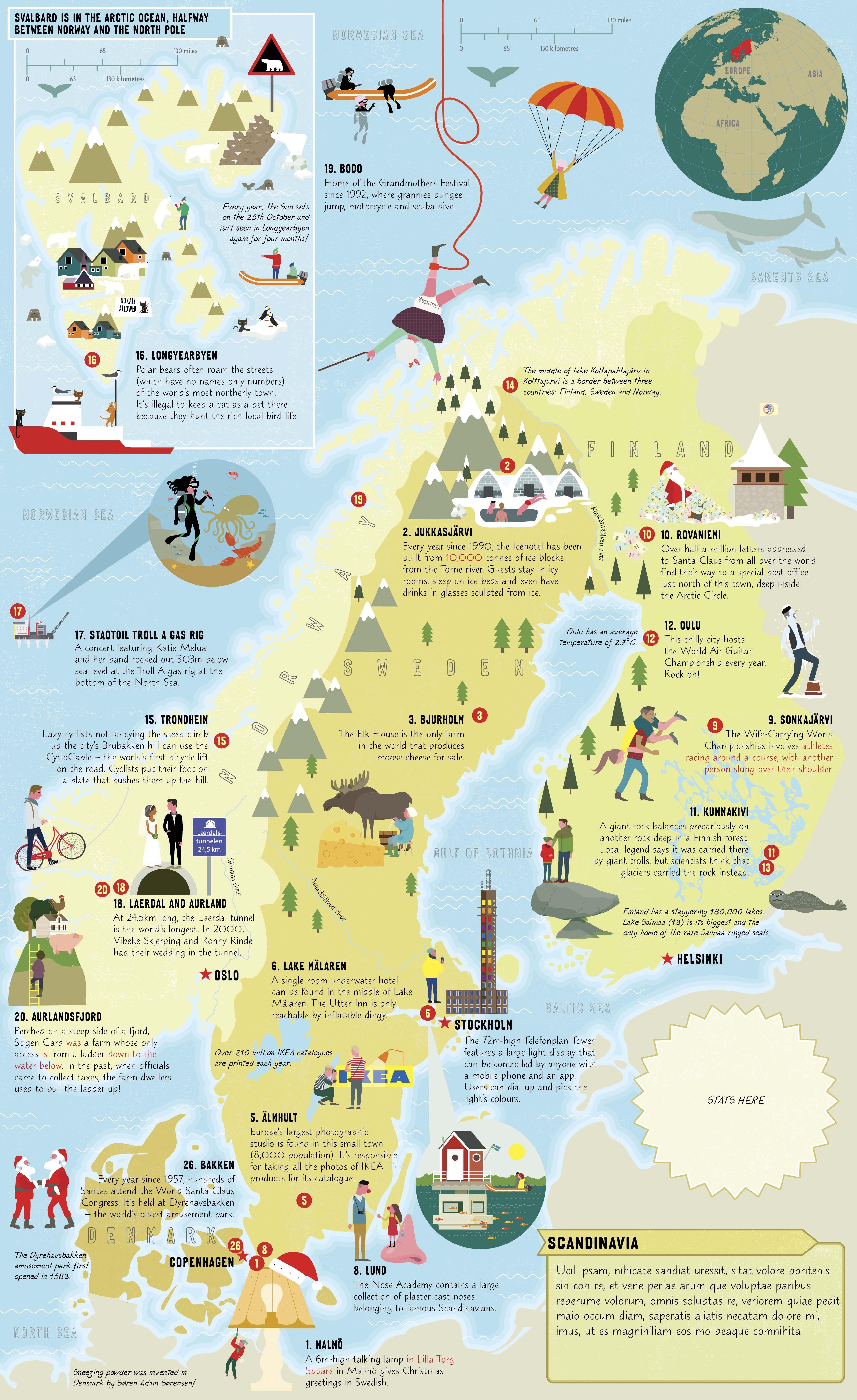 Atlas Of Oddities Tracy Worrall Illustrated Map Map Rovaniemi