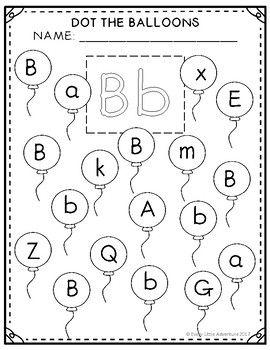 Letter Bb Balloon Dot-It Sheet FREEBIE | Letter worksheets ...