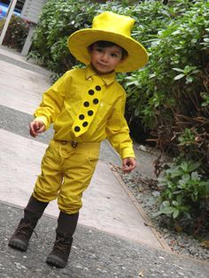 DIY Halloween Costume: Man in the Yellow Hat from Curious George ...