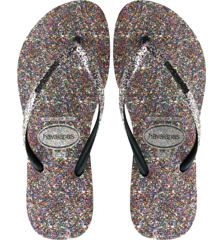 Slim Glitter Flip Flop
