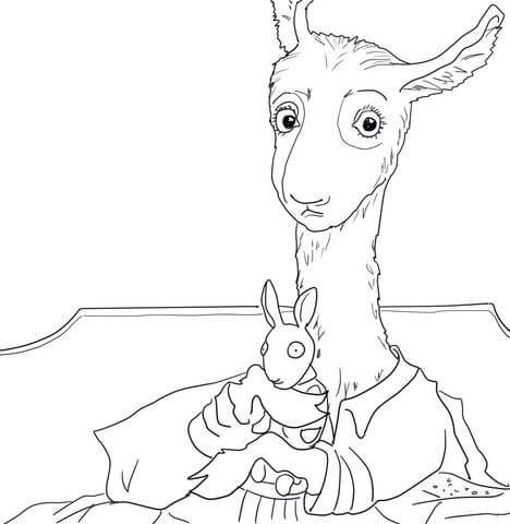 llama llama red pajama coloring page from llama llama category