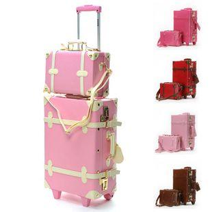 ( 90.97) Fashion Vintage fashion sidepiece vintage box trolley luggage bag  travel bag box picture de14c88b5ed5d