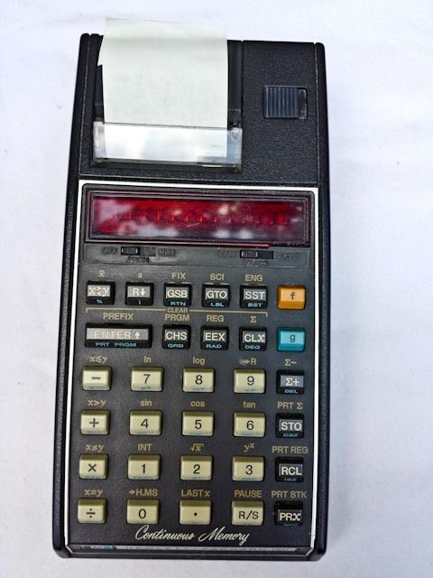 HpC Printing Scientific Calculator For Parts Or Repair Clean