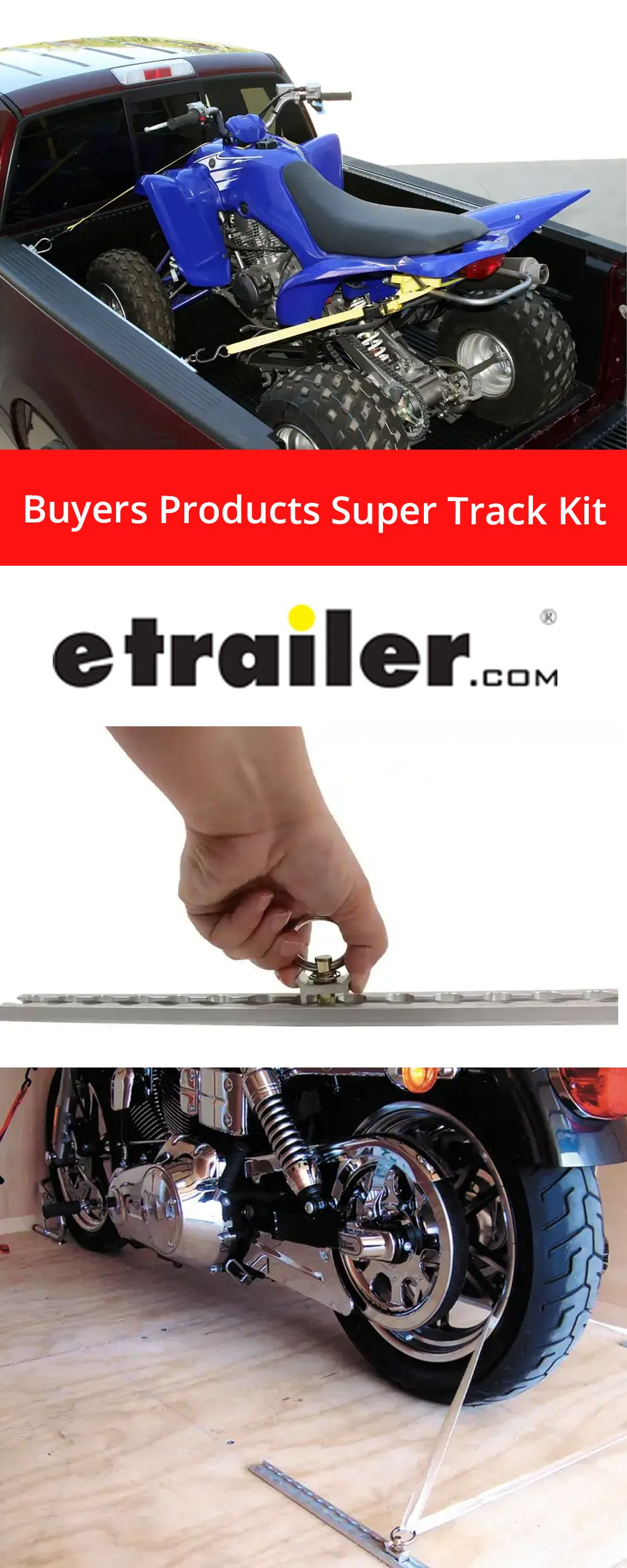 Buyers Products Super Track Kit 4 Clear Anodized