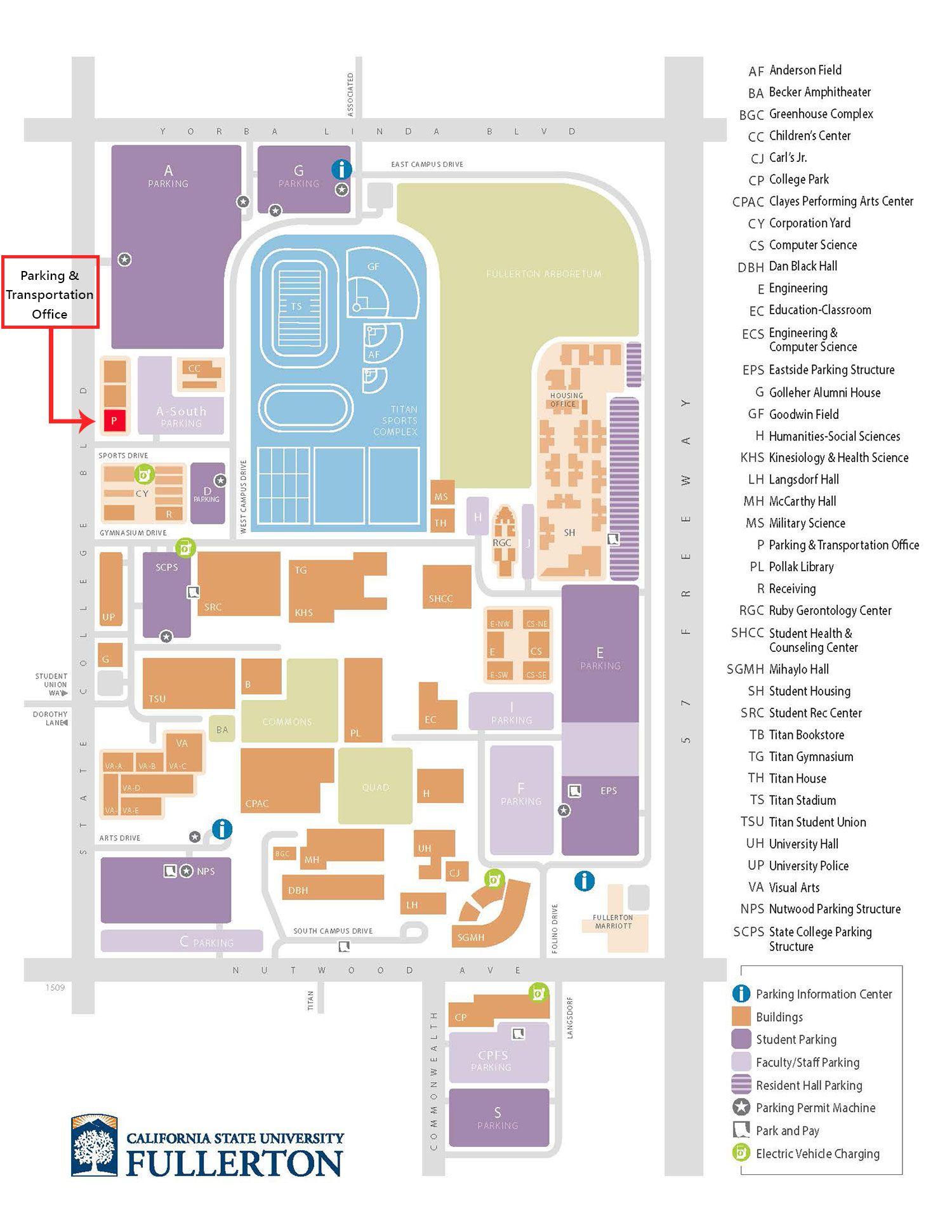 Campus Map Csuf Campus Map Map Floor Plans