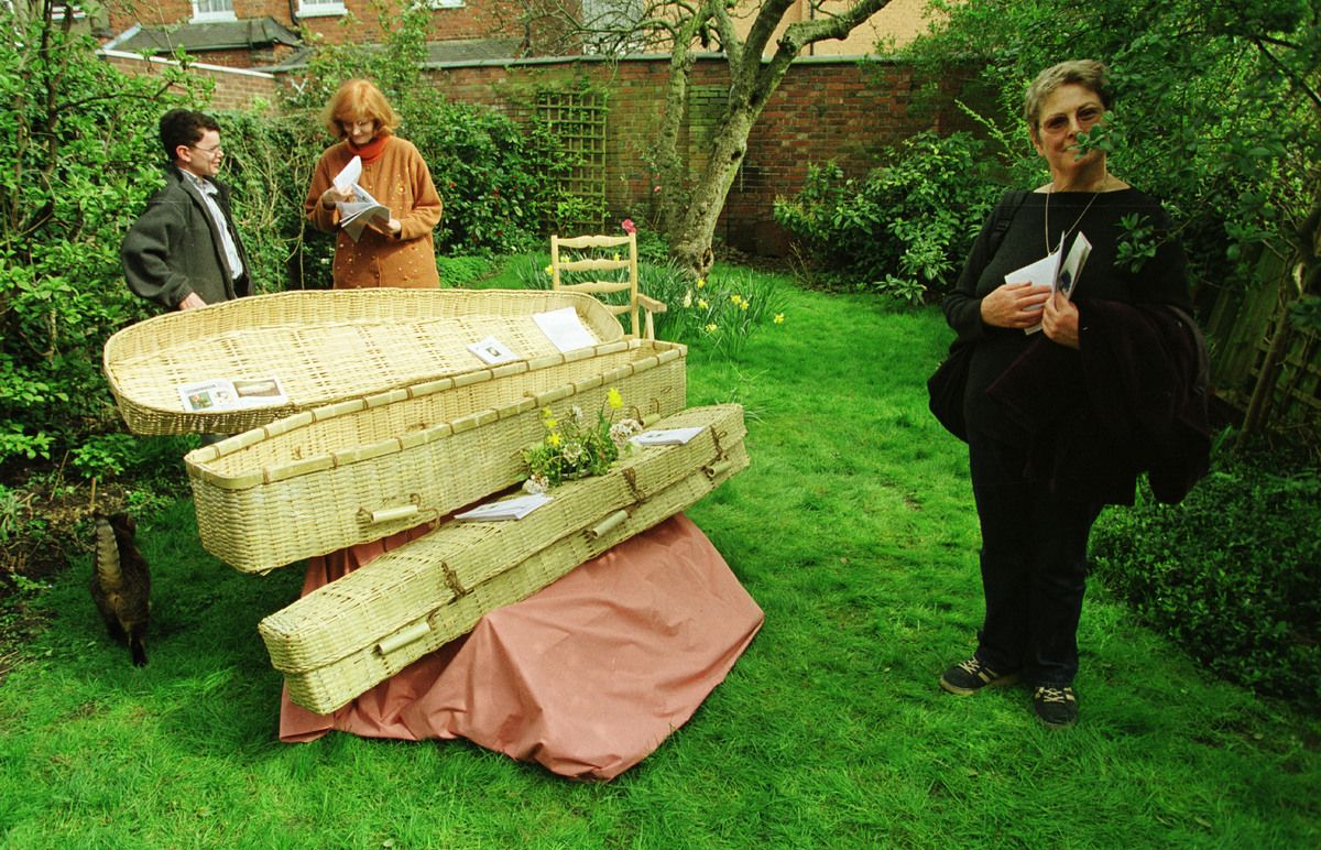 Environmentally-friendly burial options are hitting the scene. Wicker and cardboard coffins can replace traditional wood, and dry ice can be used instead of formaldehyde, reports Huffington Green.   Personally, I wouldn't be caught dead in a wicker coffin (take that Laura Ashley), but I like the idea of kisses goodbye not being overwhelmed by the scent of formaldehyde. Better burial options give us all something to look forward to.