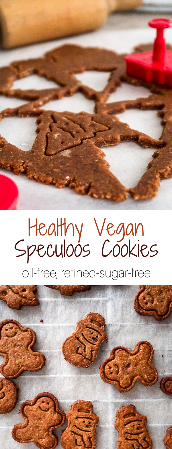 Vegan Speculoos Cookies (refined-sugar-free, oil-free #christmascookies