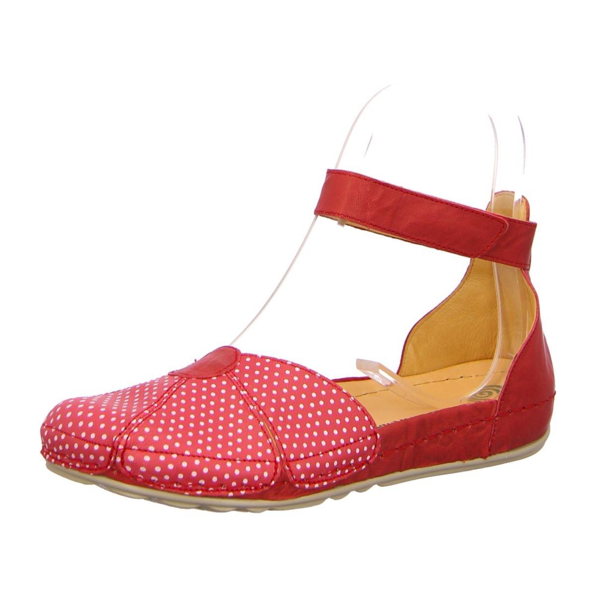 NEU: Dr. Brinkmann Ballerinas Sandalen 710772-4 - rot/punkte -