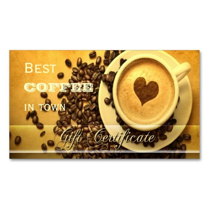Best Coffee In Town Gift Certificate Template Zazzle Com Gift Certificate Template Gift Card Template Business Gifts