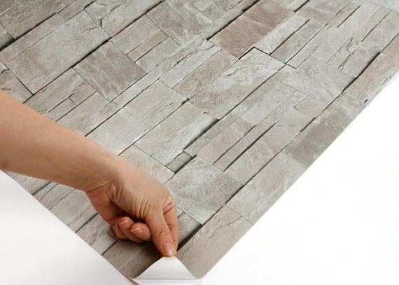Peel & Stick Backsplash Stone Brick Contact Paper Peel