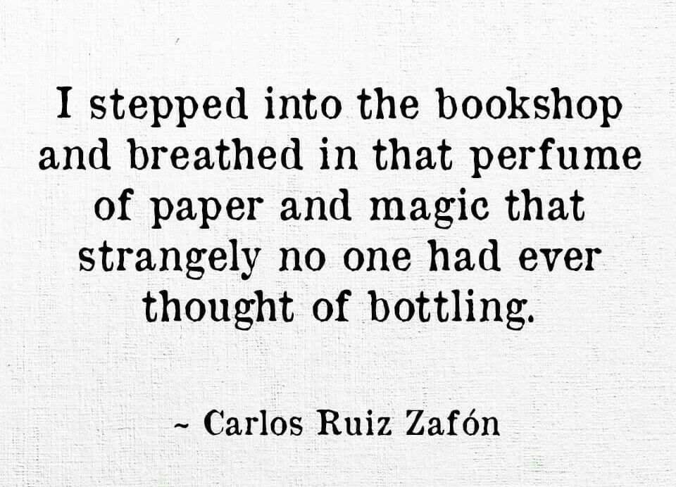 #quote #CarlosRuizZafón #beloved #author #bookshop #parfume #love #booklover #addicted