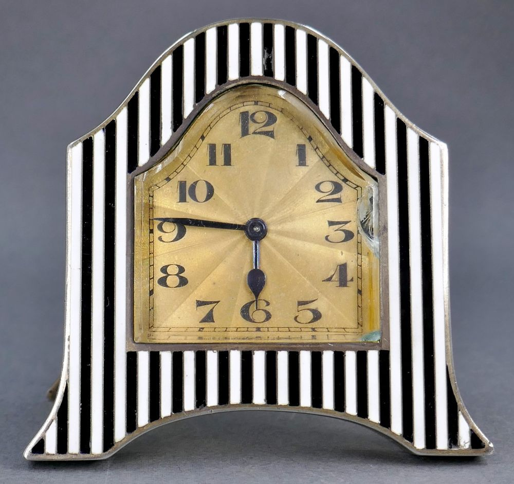 Antique Art Deco Sterling Silver Enamel Wittnauer Geneve Swiss ...